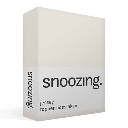 Snoozing jersey topper hoeslaken